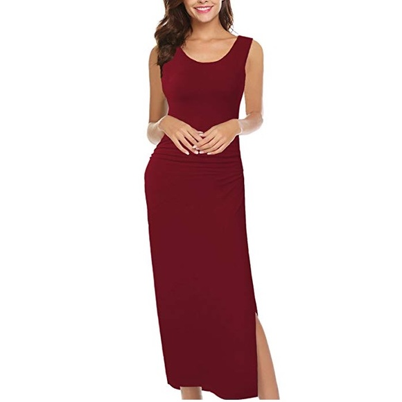 fe442abb978c7 Like A Glove Slit Side Bodycon Long Dress. Boutique